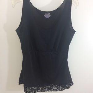 Spanx XL Lace Scoop Neck Hide & Sleek Cami Black